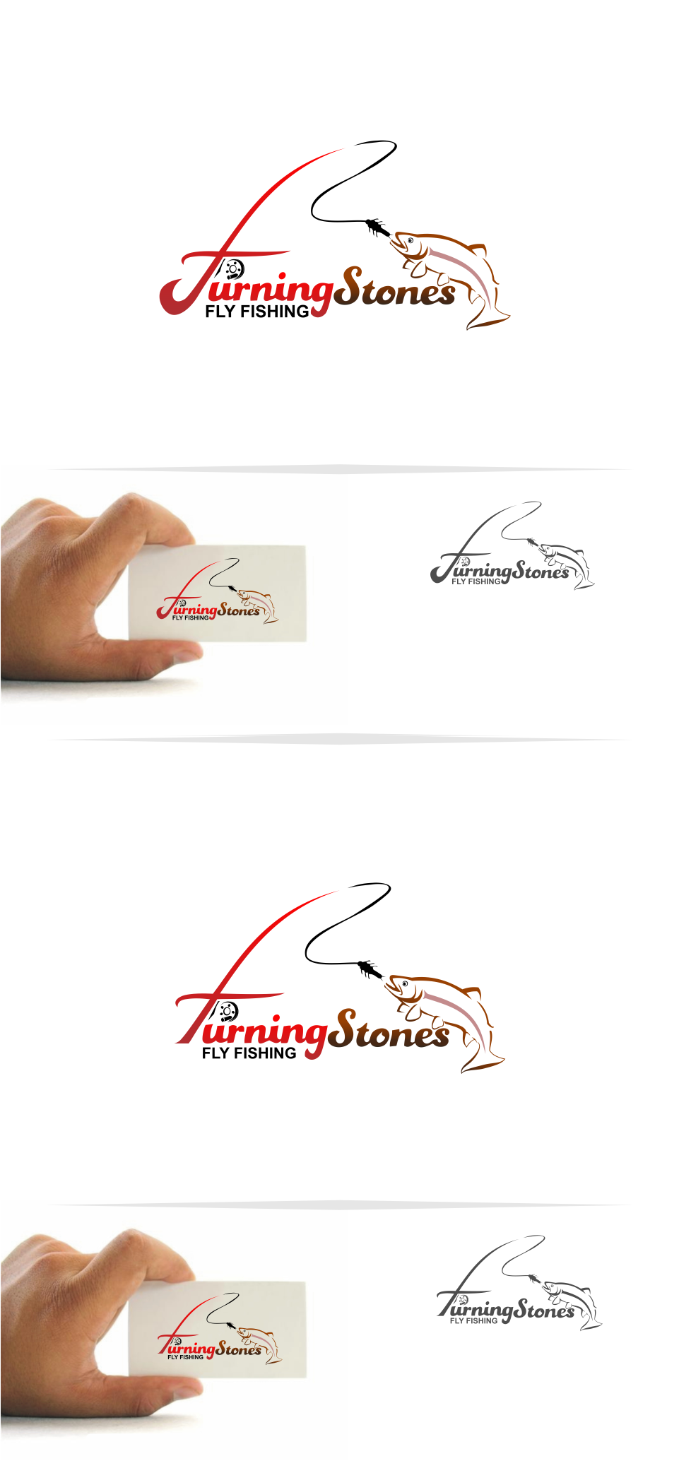 Logo Design by Mitchnick Sunardi - Entry No. 17 in the Logo Design Contest New Logo Design for Turning Stones Fly Fishing.