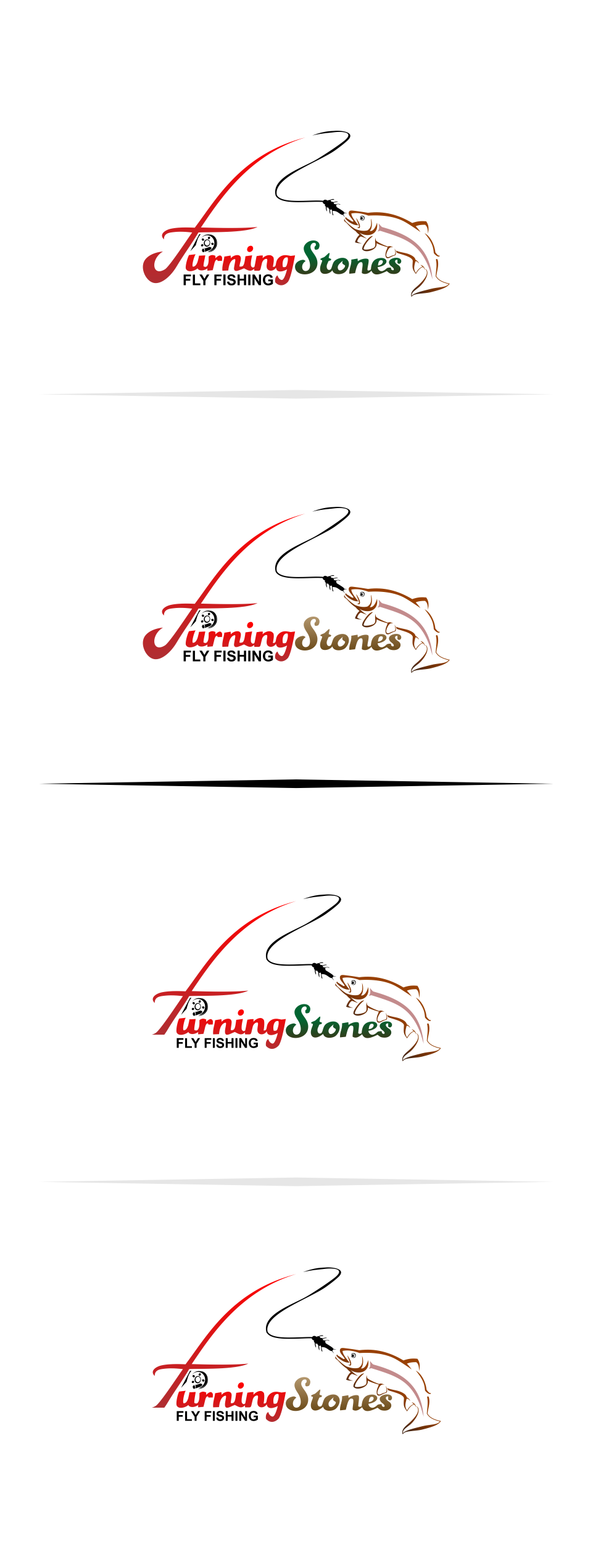 Logo Design by Mitchnick Sunardi - Entry No. 18 in the Logo Design Contest New Logo Design for Turning Stones Fly Fishing.