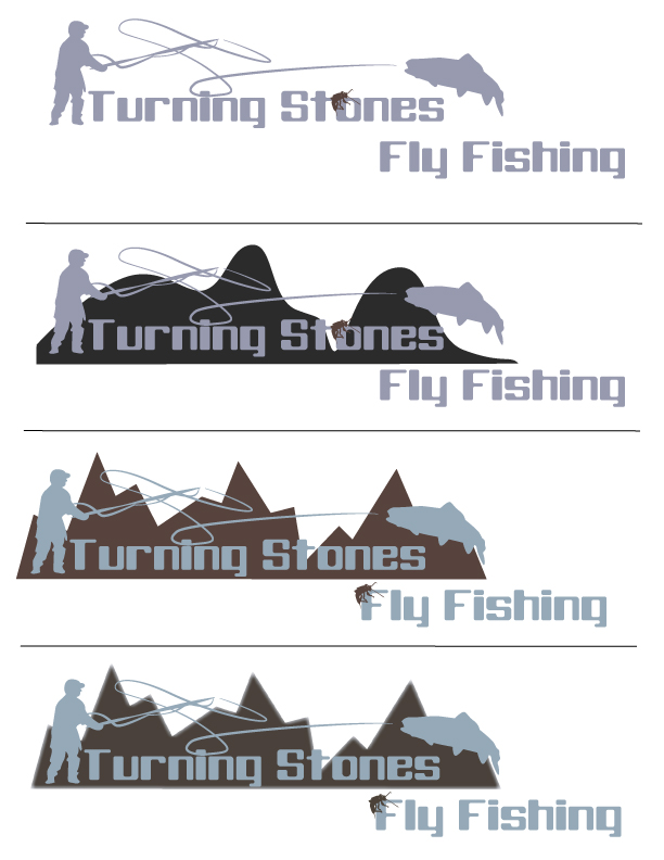Logo Design by Sarah Hoeppner - Entry No. 19 in the Logo Design Contest New Logo Design for Turning Stones Fly Fishing.