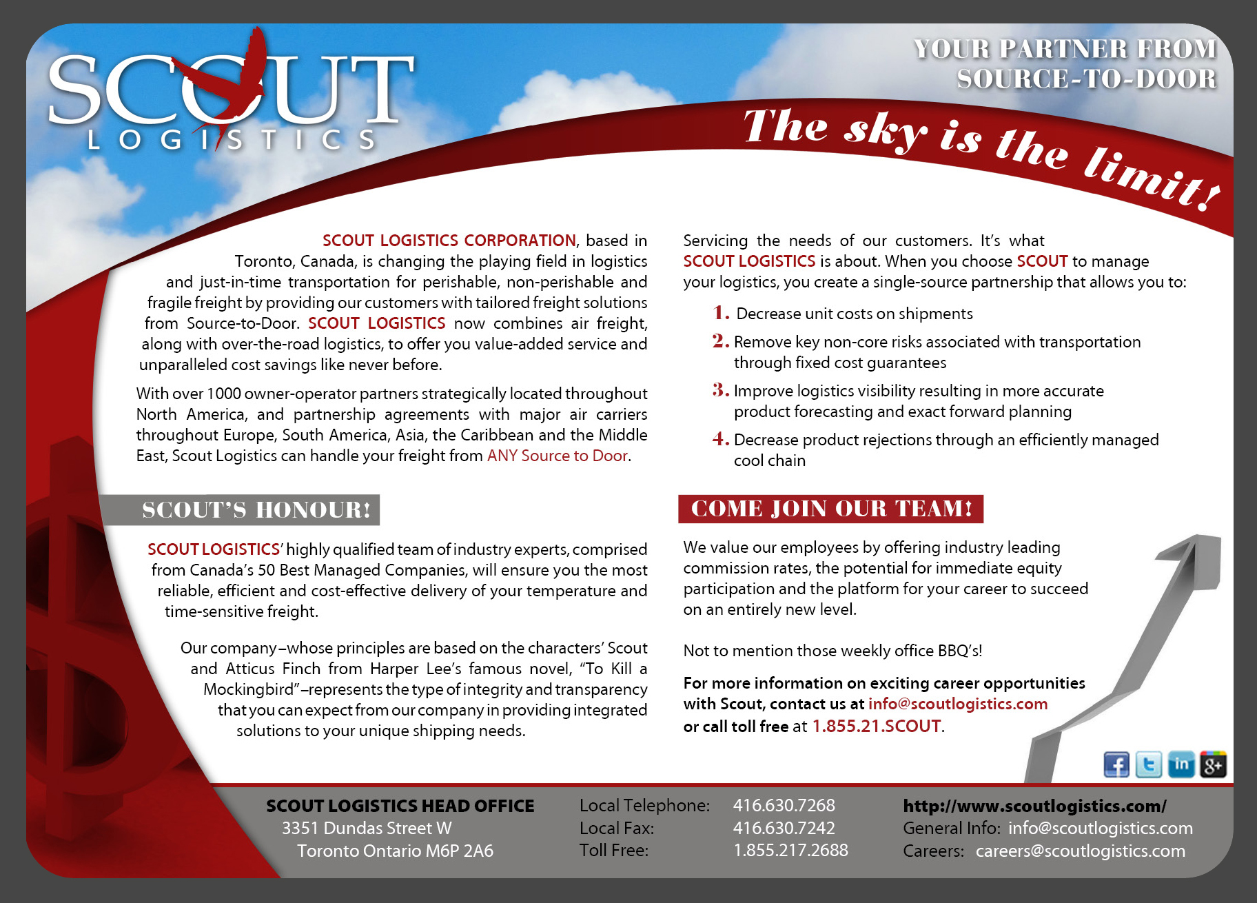 Print Design by nausigeo - Entry No. 5 in the Print Design Contest Creative Print Design for Scout Logistics Corporation.