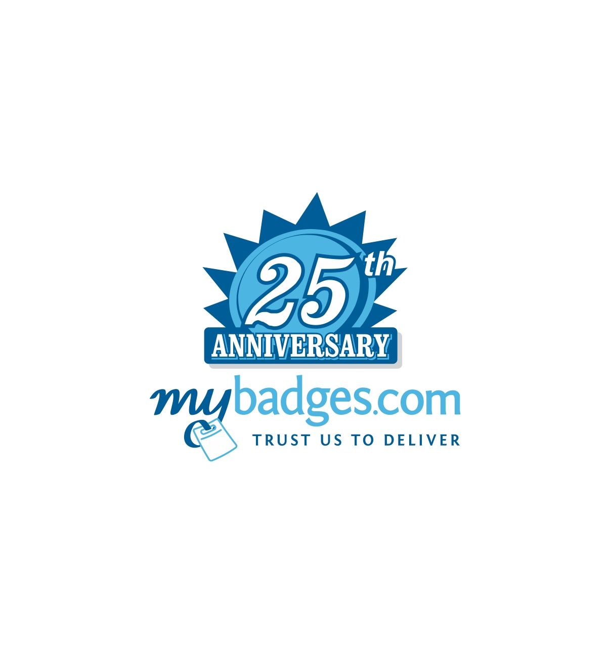 Logo Design by haidu - Entry No. 117 in the Logo Design Contest 25th Anniversary Logo Design Wanted for MyBadges.com.