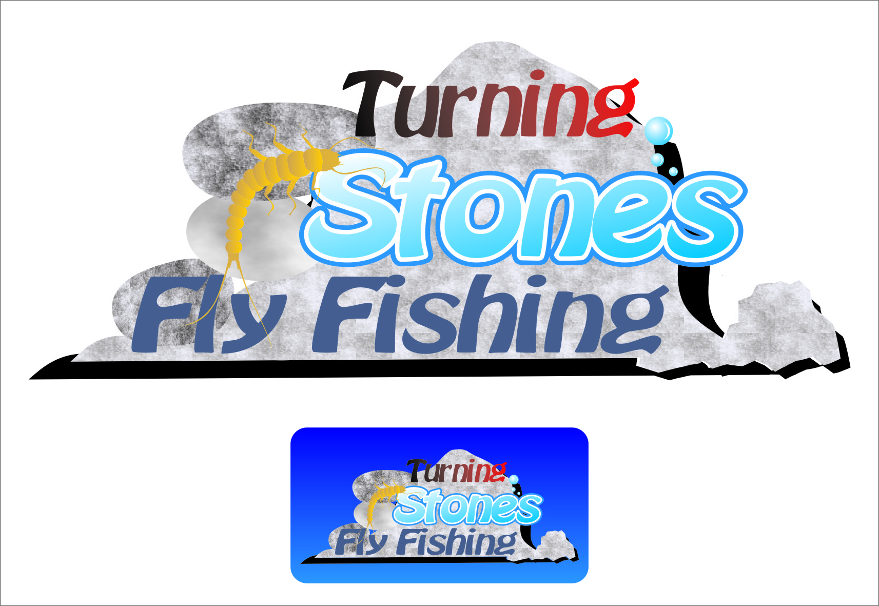 Logo Design by RoSyid Rono-Rene On Java - Entry No. 25 in the Logo Design Contest New Logo Design for Turning Stones Fly Fishing.