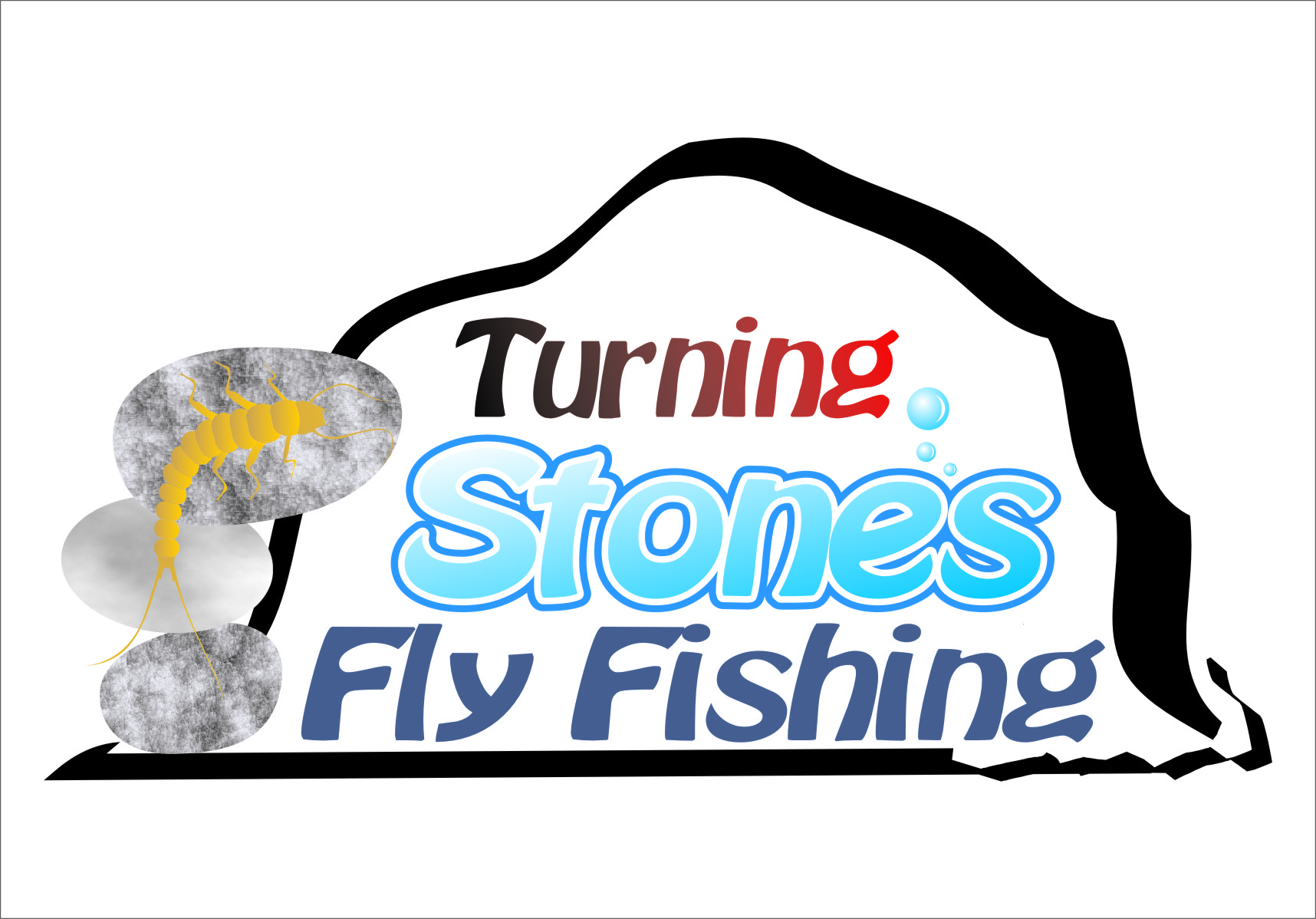 Logo Design by Ngepet_art - Entry No. 26 in the Logo Design Contest New Logo Design for Turning Stones Fly Fishing.