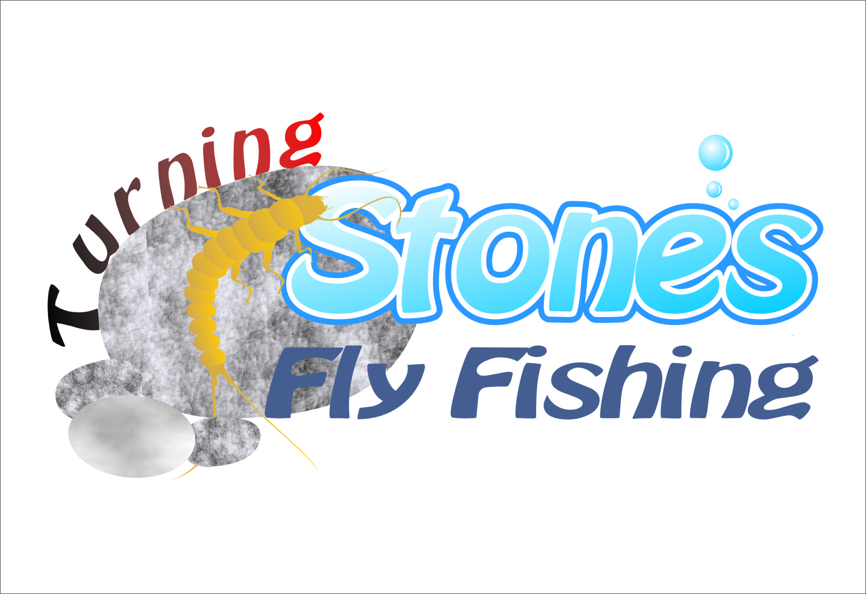 Logo Design by Ngepet_art - Entry No. 27 in the Logo Design Contest New Logo Design for Turning Stones Fly Fishing.