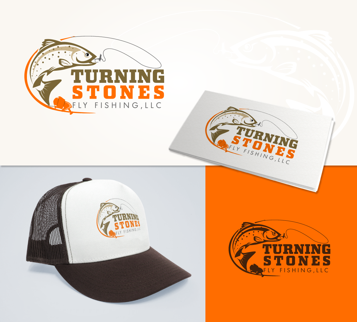 Logo Design by Tarek Khenfir - Entry No. 31 in the Logo Design Contest New Logo Design for Turning Stones Fly Fishing.