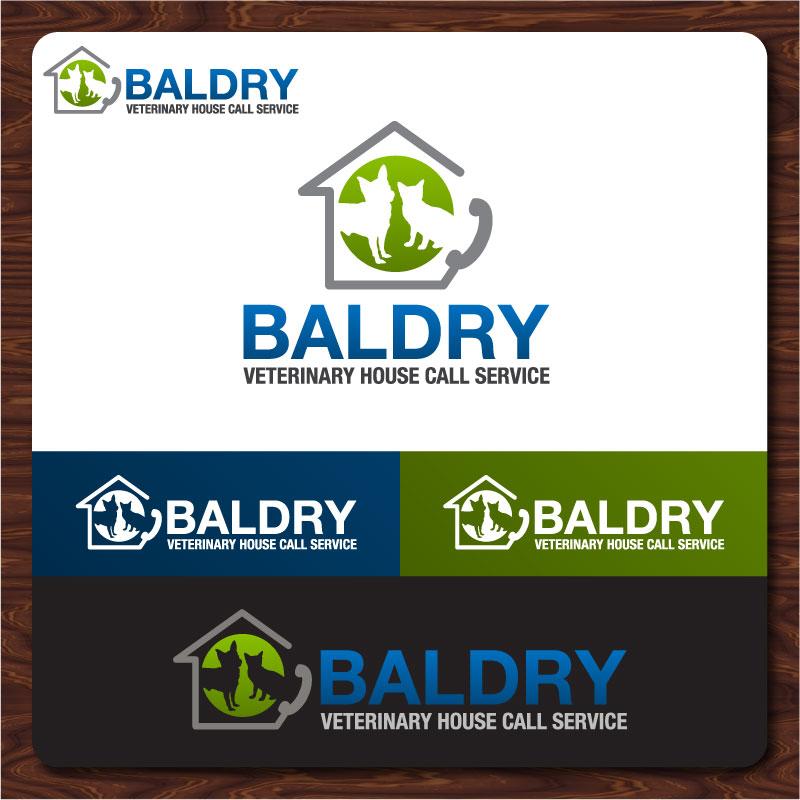 Logo Design by Rommel Delos Santos - Entry No. 158 in the Logo Design Contest Captivating Logo Design for Baldry Veterinary House Call Service.