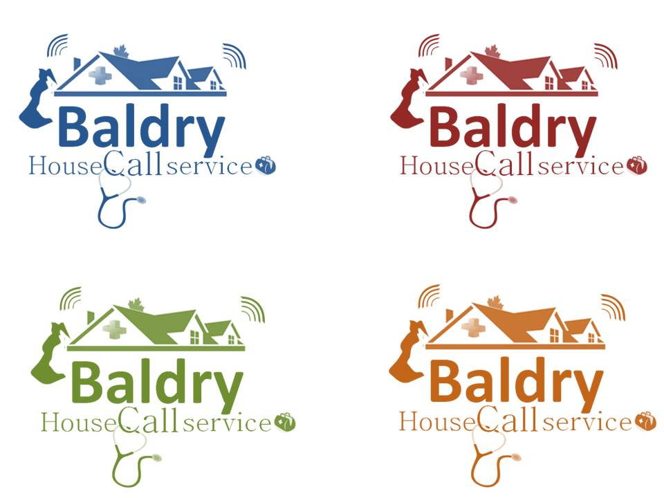 Logo Design by Private User - Entry No. 159 in the Logo Design Contest Captivating Logo Design for Baldry Veterinary House Call Service.