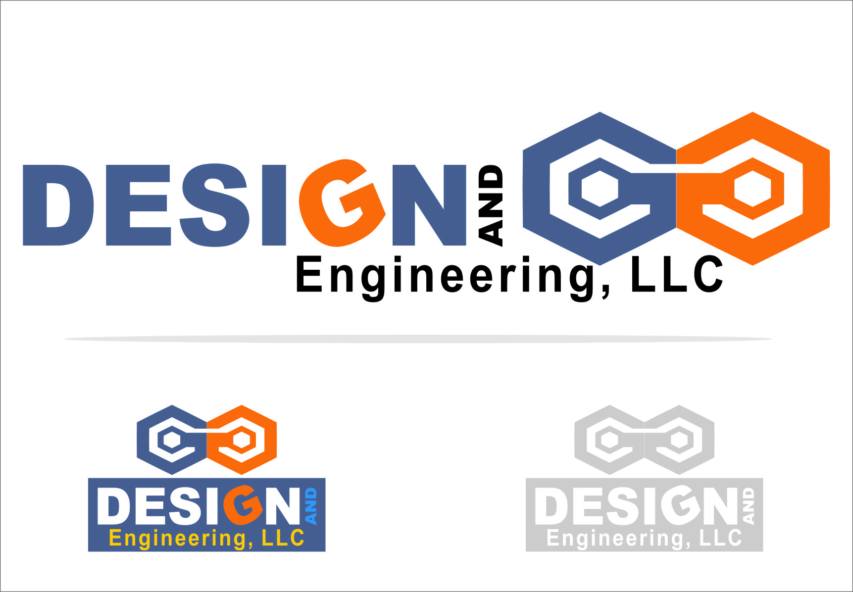 Logo Design by RasYa Muhammad Athaya - Entry No. 69 in the Logo Design Contest Creative Logo Design for G&G Design and Engineering, LLC.