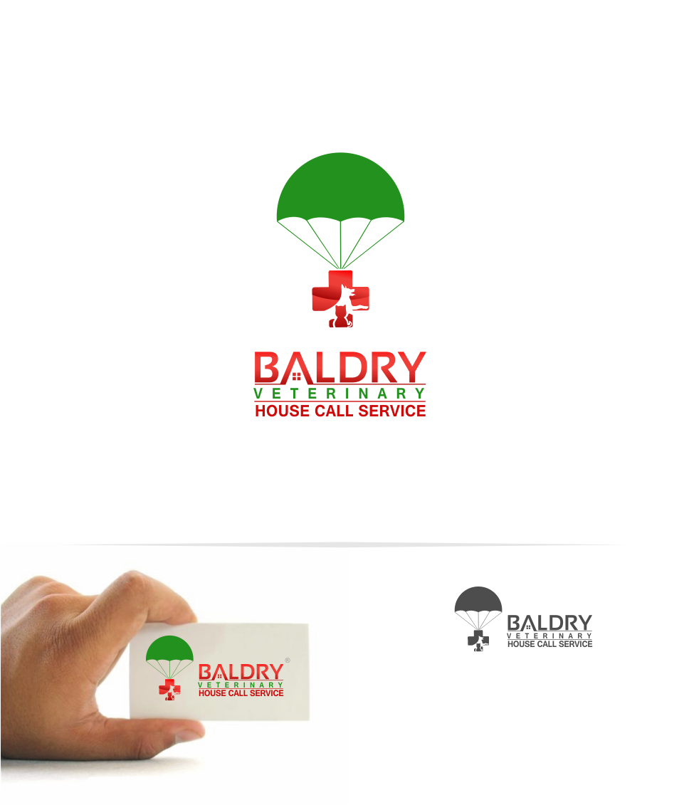 Logo Design by Mitchnick Sunardi - Entry No. 165 in the Logo Design Contest Captivating Logo Design for Baldry Veterinary House Call Service.