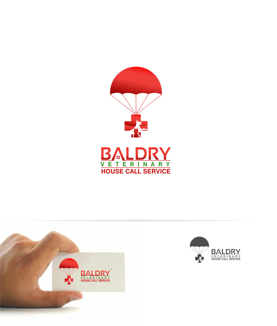 Logo Design by Mitchnick Sunardi - Entry No. 166 in the Logo Design Contest Captivating Logo Design for Baldry Veterinary House Call Service.