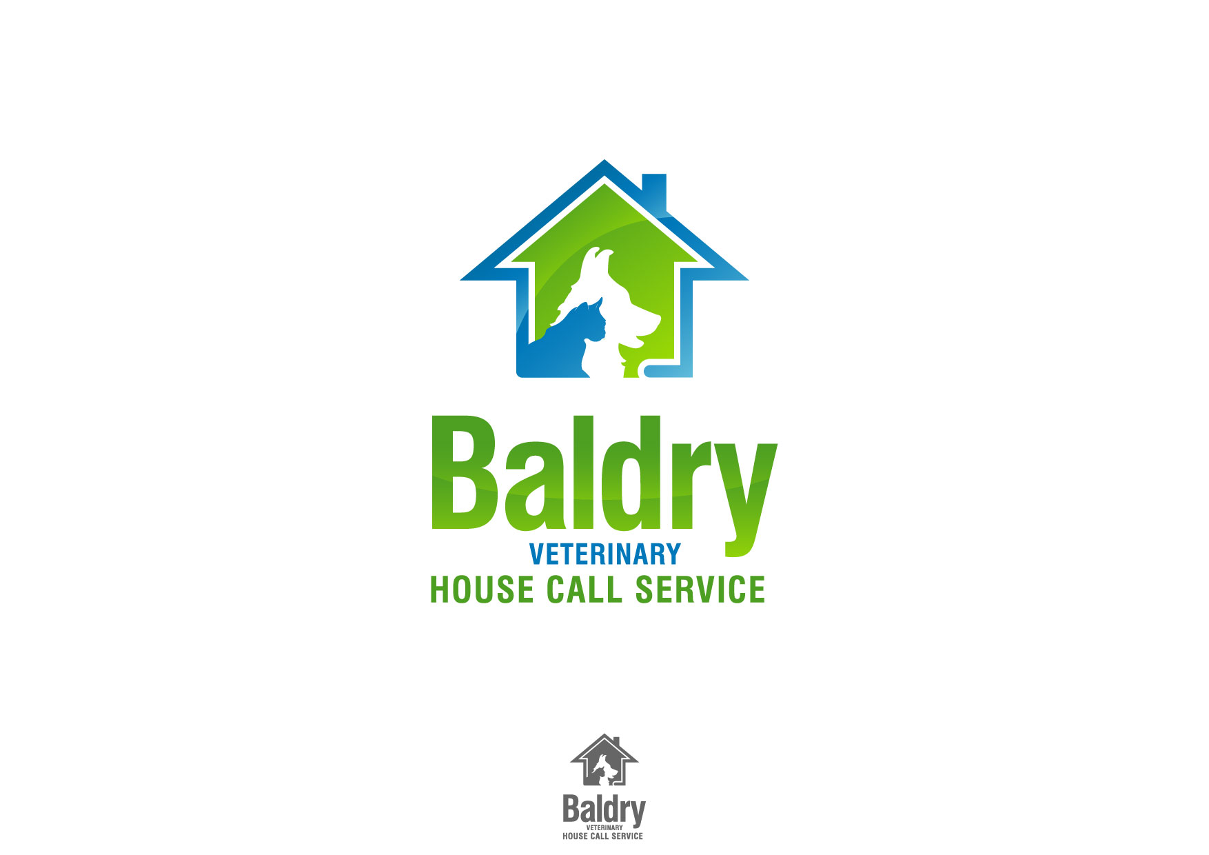 Logo Design by Nurgalih Destianto - Entry No. 167 in the Logo Design Contest Captivating Logo Design for Baldry Veterinary House Call Service.