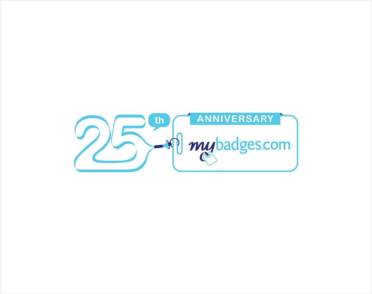 Logo Design by Jorge Sardon - Entry No. 127 in the Logo Design Contest 25th Anniversary Logo Design Wanted for MyBadges.com.