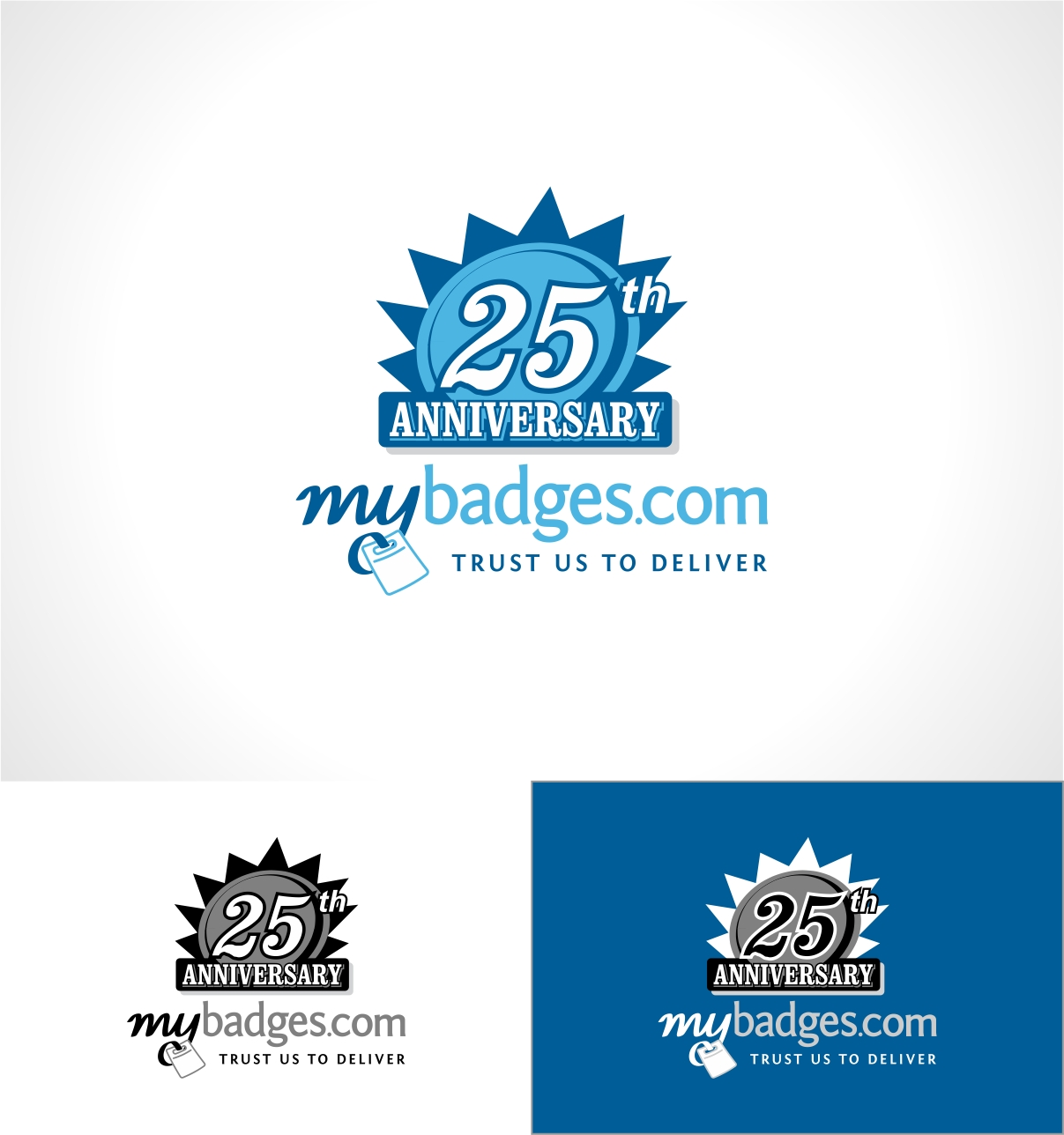 Logo Design by haidu - Entry No. 128 in the Logo Design Contest 25th Anniversary Logo Design Wanted for MyBadges.com.