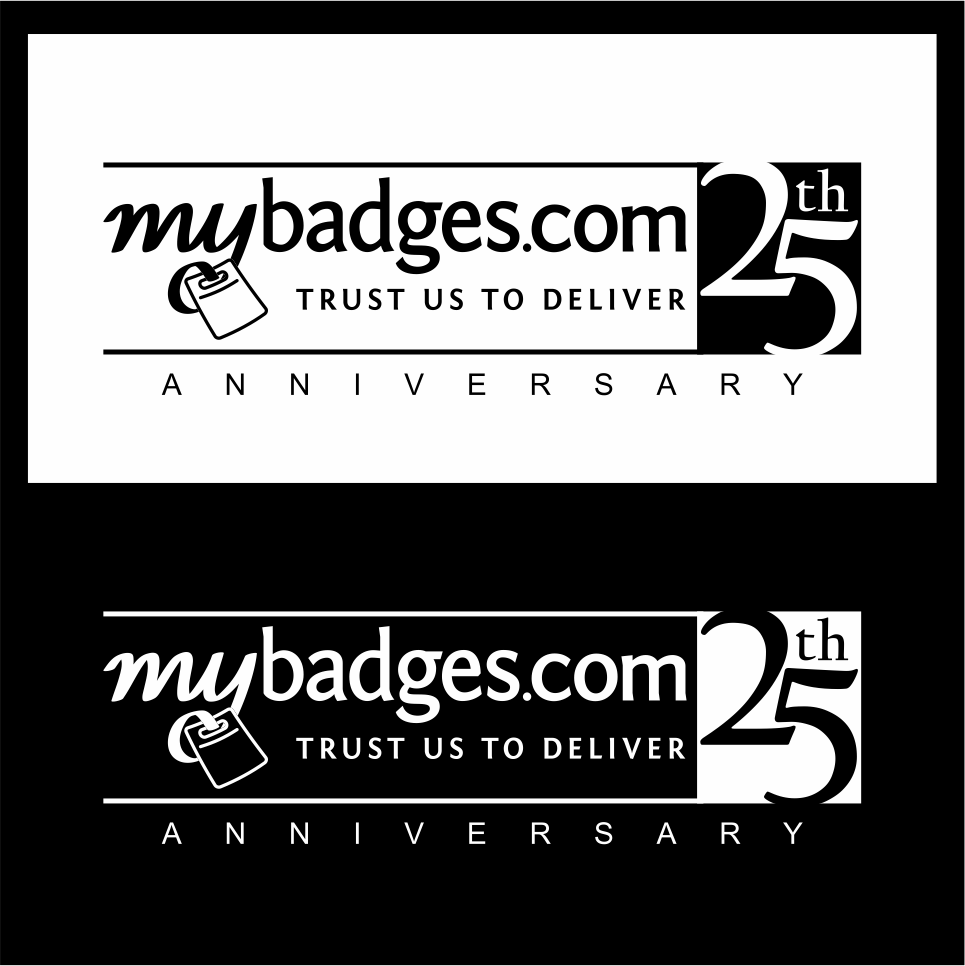 Logo Design by gdfd - Entry No. 129 in the Logo Design Contest 25th Anniversary Logo Design Wanted for MyBadges.com.