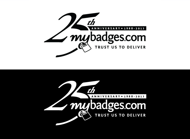 Logo Design by Private User - Entry No. 130 in the Logo Design Contest 25th Anniversary Logo Design Wanted for MyBadges.com.