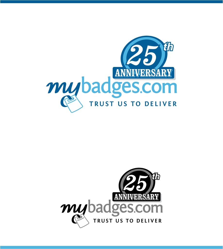 Logo Design by haidu - Entry No. 131 in the Logo Design Contest 25th Anniversary Logo Design Wanted for MyBadges.com.