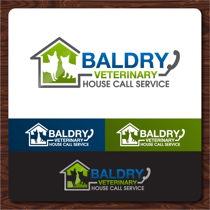 Logo Design by Rommel Delos Santos - Entry No. 170 in the Logo Design Contest Captivating Logo Design for Baldry Veterinary House Call Service.