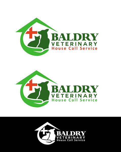 Logo Design by Respati Himawan - Entry No. 171 in the Logo Design Contest Captivating Logo Design for Baldry Veterinary House Call Service.