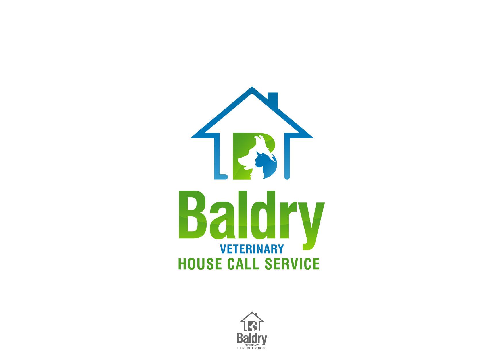 Logo Design by Nurgalih Destianto - Entry No. 172 in the Logo Design Contest Captivating Logo Design for Baldry Veterinary House Call Service.