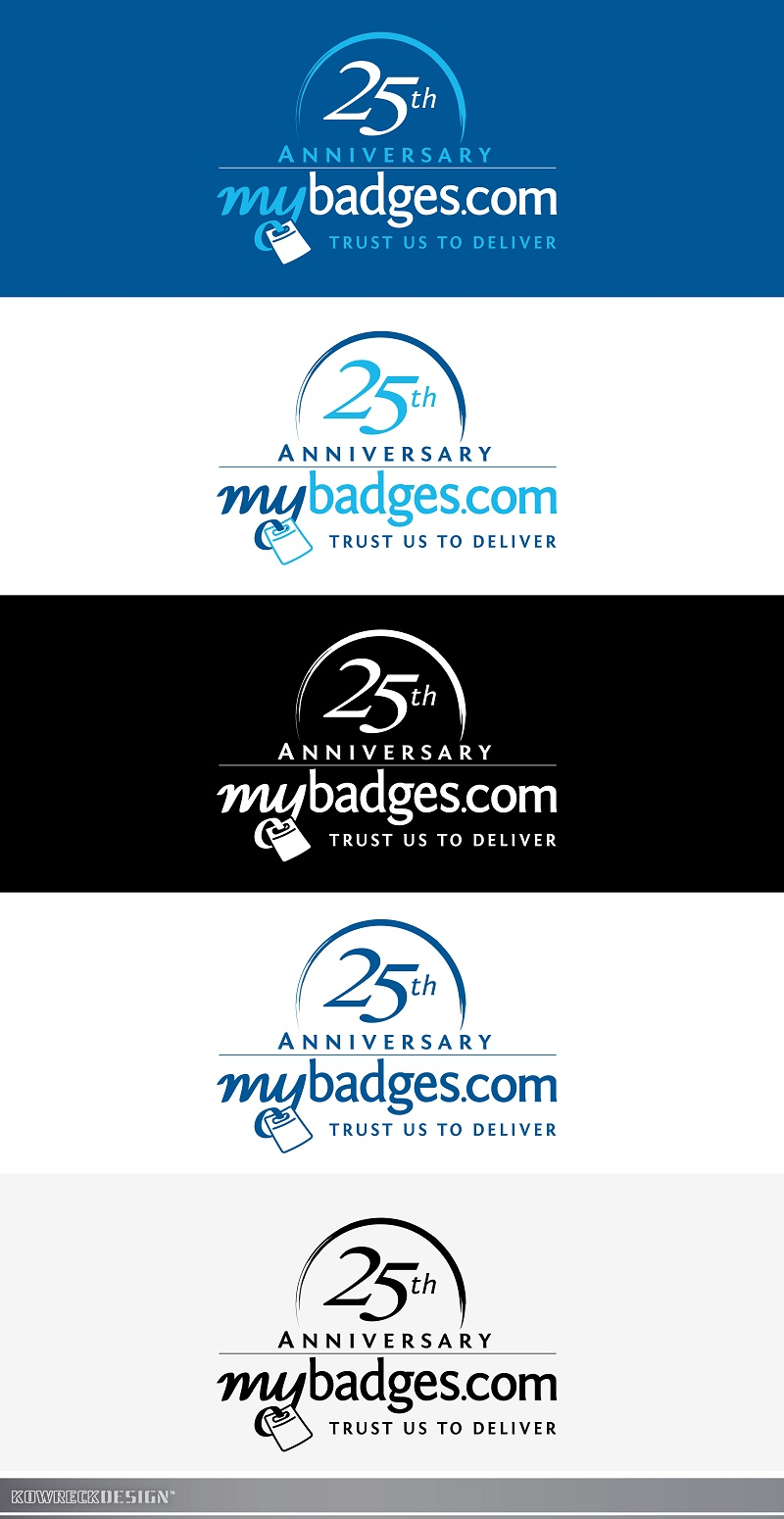 Logo Design by kowreck - Entry No. 132 in the Logo Design Contest 25th Anniversary Logo Design Wanted for MyBadges.com.