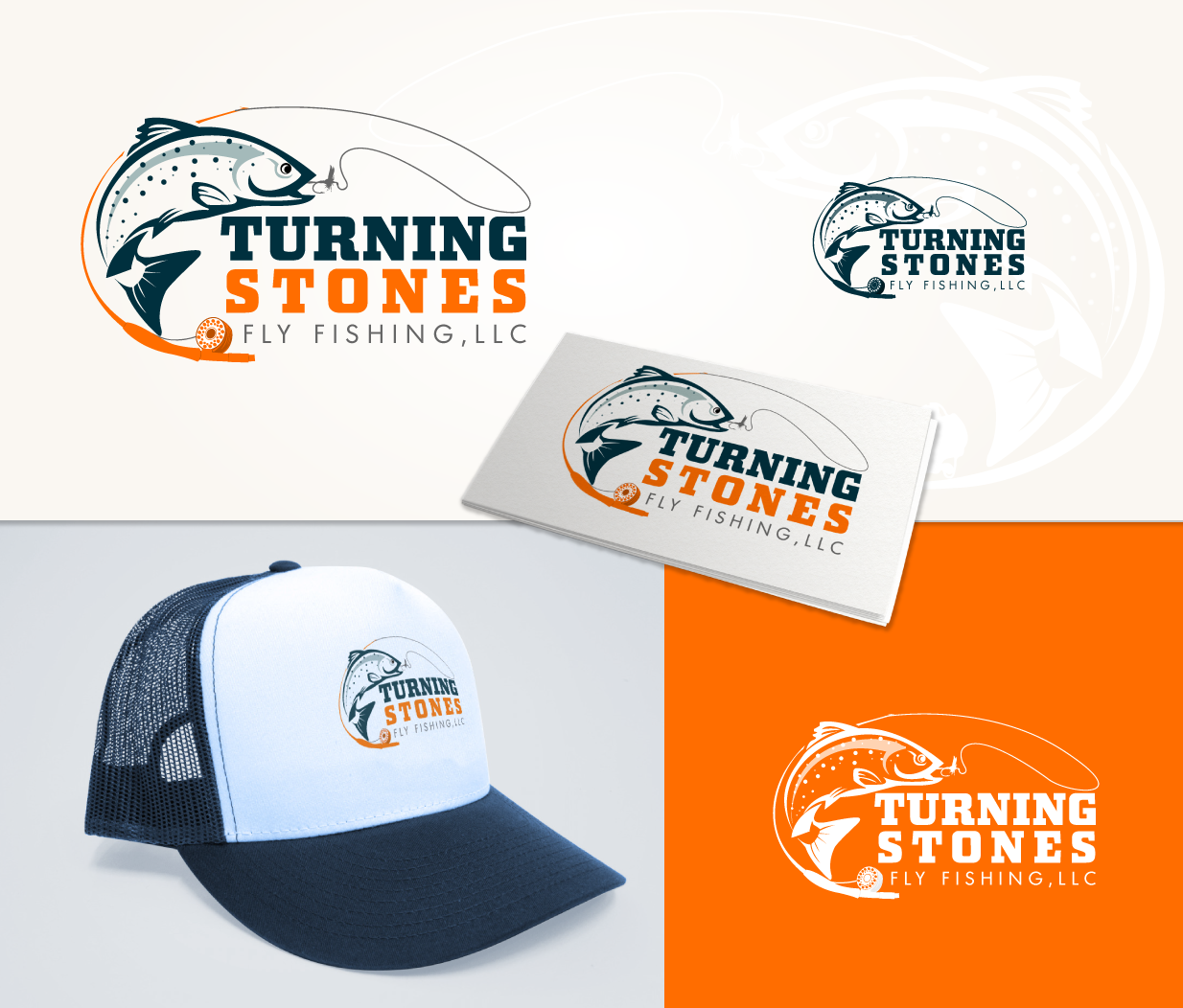 Logo Design by Tarek Khenfir - Entry No. 34 in the Logo Design Contest New Logo Design for Turning Stones Fly Fishing.