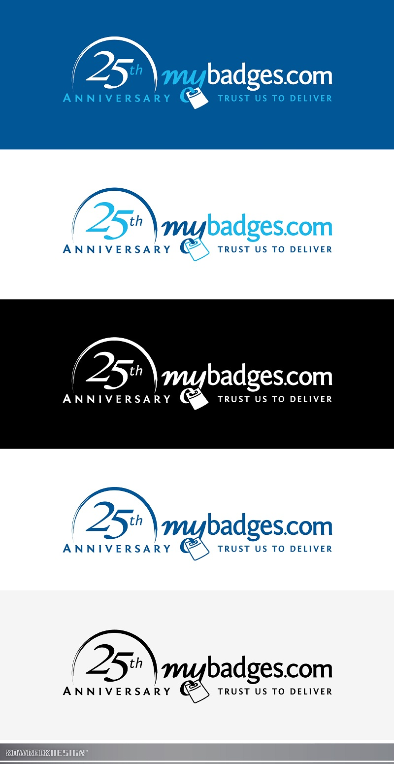 Logo Design by kowreck - Entry No. 136 in the Logo Design Contest 25th Anniversary Logo Design Wanted for MyBadges.com.