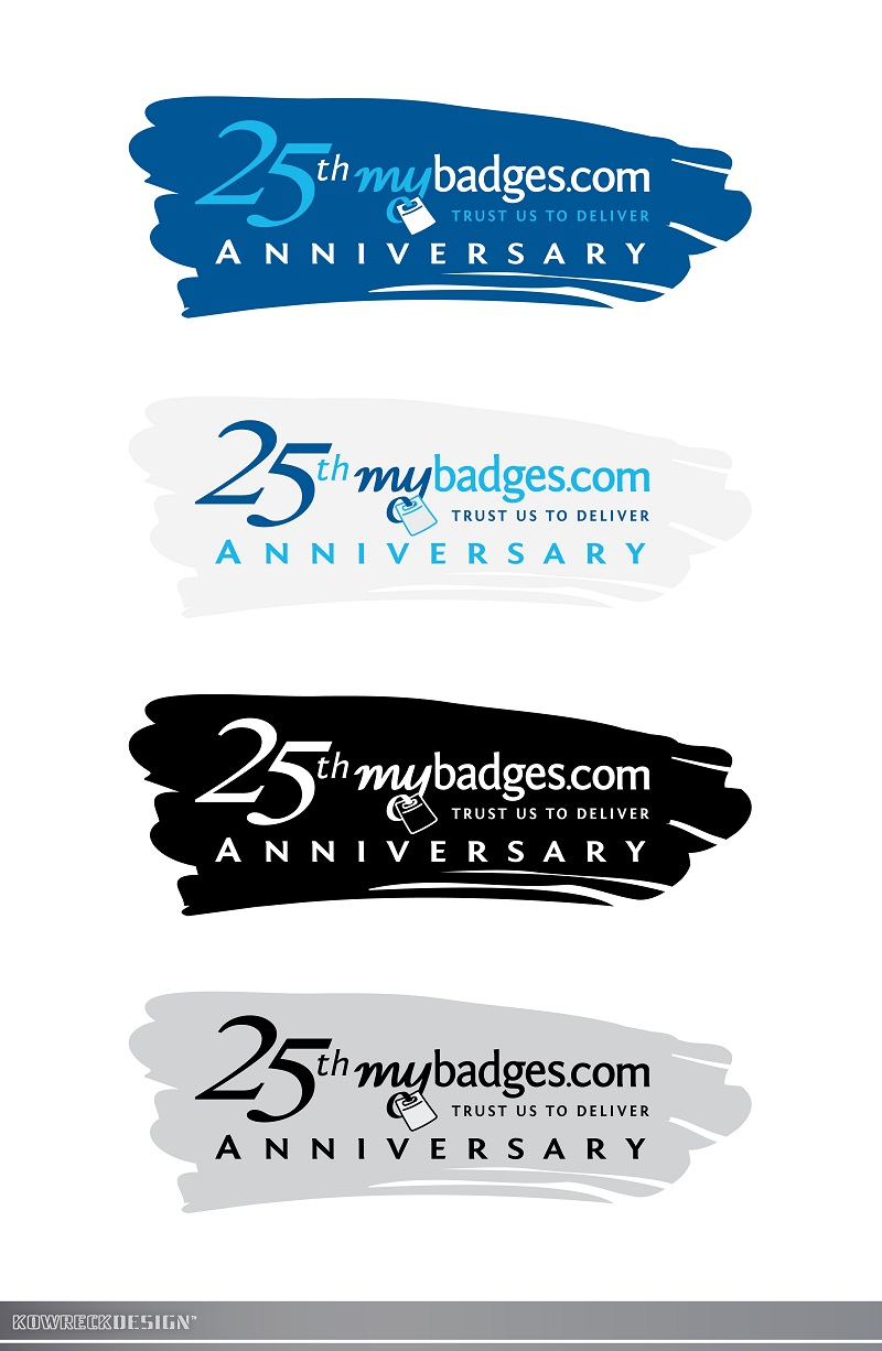 Logo Design by kowreck - Entry No. 137 in the Logo Design Contest 25th Anniversary Logo Design Wanted for MyBadges.com.