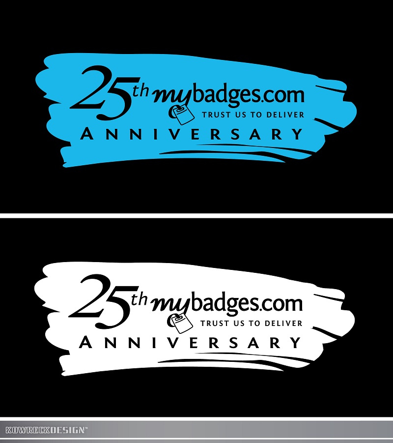 Logo Design by kowreck - Entry No. 138 in the Logo Design Contest 25th Anniversary Logo Design Wanted for MyBadges.com.