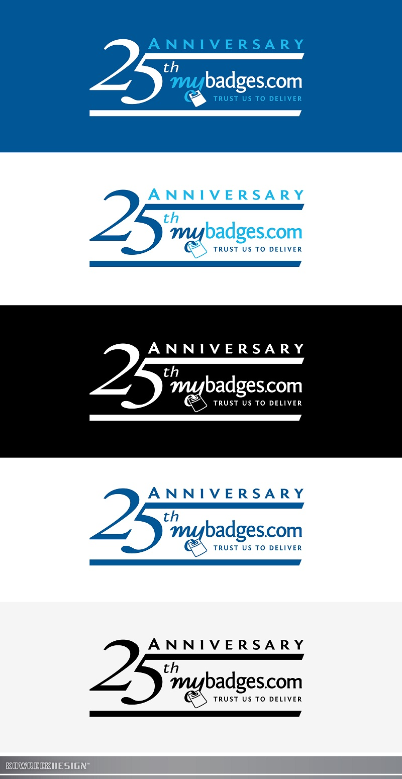 Logo Design by kowreck - Entry No. 139 in the Logo Design Contest 25th Anniversary Logo Design Wanted for MyBadges.com.