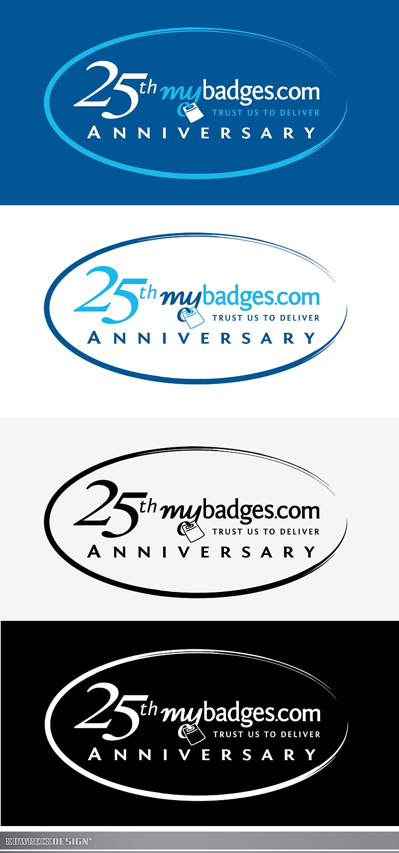 Logo Design by kowreck - Entry No. 141 in the Logo Design Contest 25th Anniversary Logo Design Wanted for MyBadges.com.