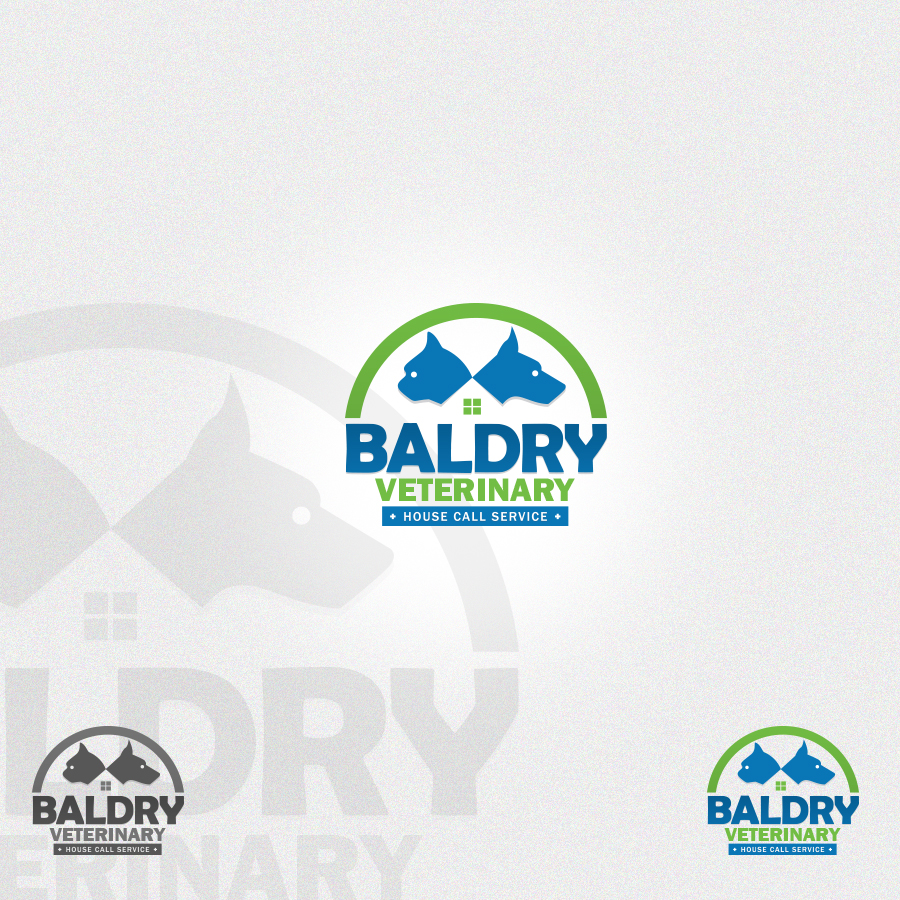 Logo Design by rockpinoy - Entry No. 173 in the Logo Design Contest Captivating Logo Design for Baldry Veterinary House Call Service.