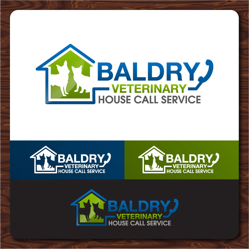 Logo Design by Rommel Delos Santos - Entry No. 174 in the Logo Design Contest Captivating Logo Design for Baldry Veterinary House Call Service.