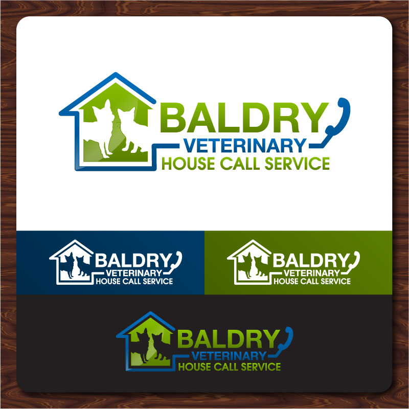 Logo Design by Rommel Delos Santos - Entry No. 176 in the Logo Design Contest Captivating Logo Design for Baldry Veterinary House Call Service.