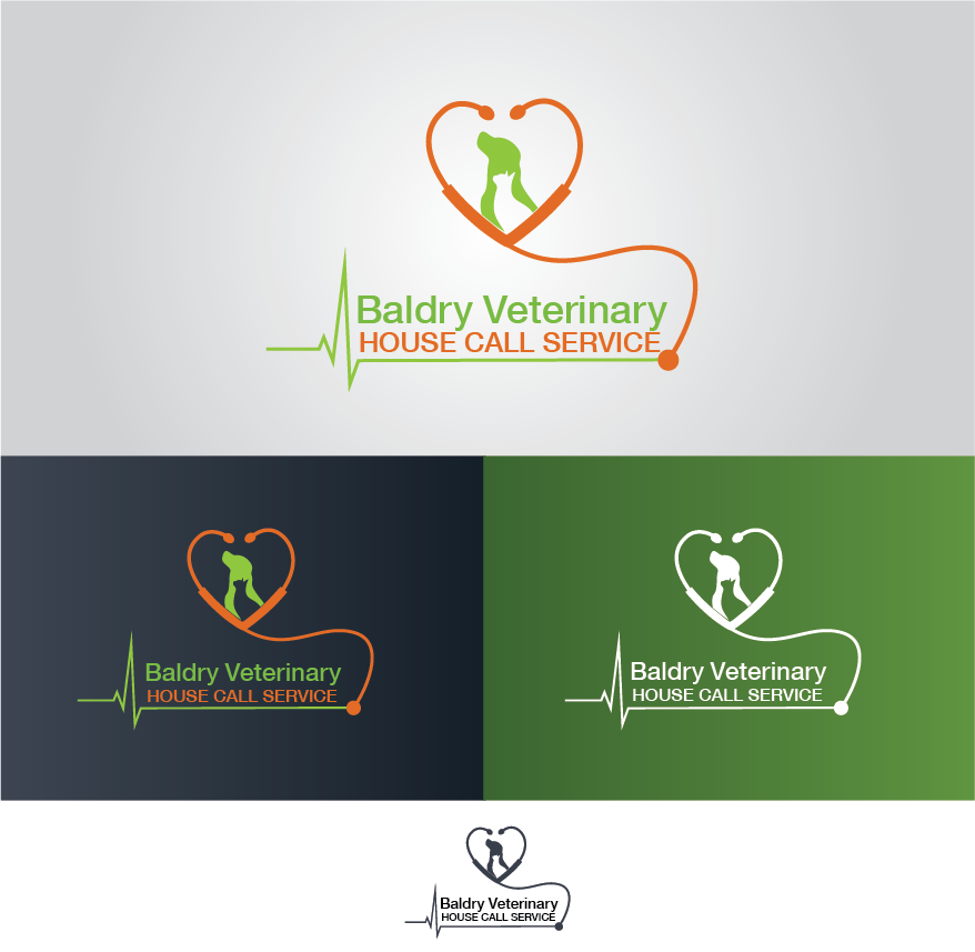 Logo Design by Muhammad Moinjaved - Entry No. 177 in the Logo Design Contest Captivating Logo Design for Baldry Veterinary House Call Service.