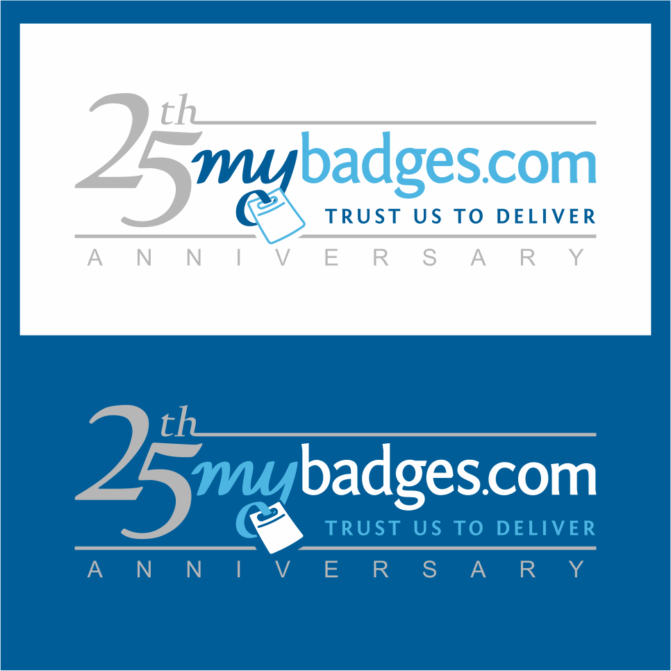 Logo Design by gdfd - Entry No. 143 in the Logo Design Contest 25th Anniversary Logo Design Wanted for MyBadges.com.