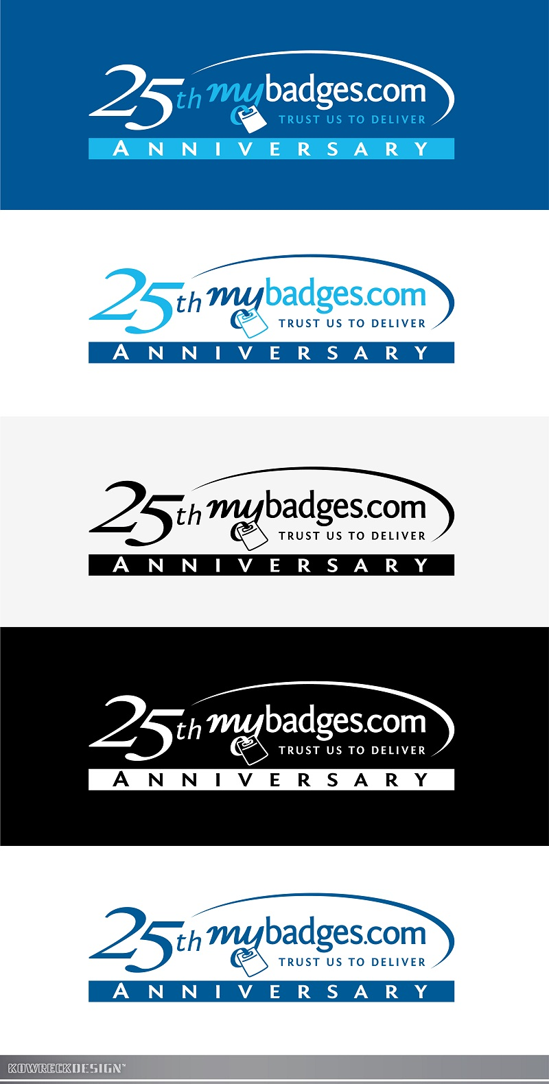 Logo Design by kowreck - Entry No. 144 in the Logo Design Contest 25th Anniversary Logo Design Wanted for MyBadges.com.
