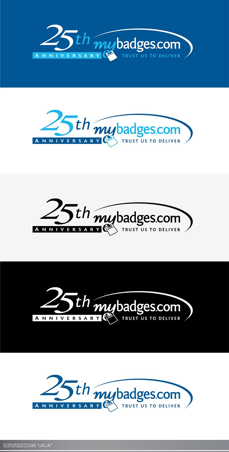 Logo Design by kowreck - Entry No. 145 in the Logo Design Contest 25th Anniversary Logo Design Wanted for MyBadges.com.