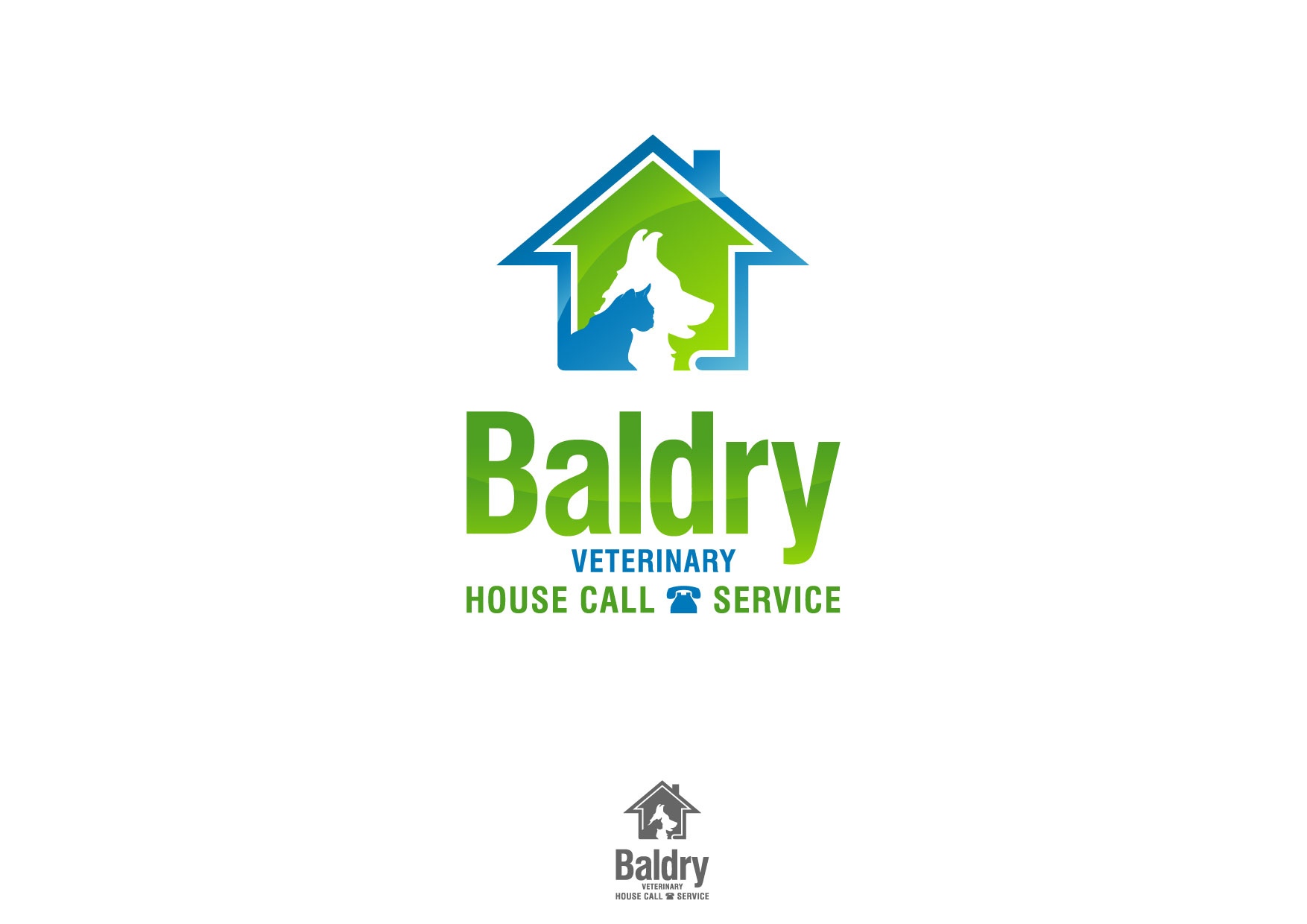Logo Design by Nurgalih Destianto - Entry No. 180 in the Logo Design Contest Captivating Logo Design for Baldry Veterinary House Call Service.