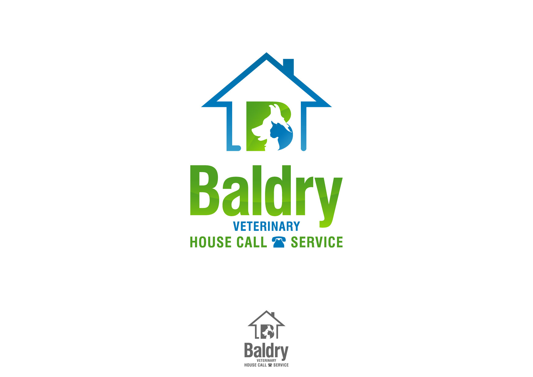 Logo Design by Nurgalih Destianto - Entry No. 181 in the Logo Design Contest Captivating Logo Design for Baldry Veterinary House Call Service.