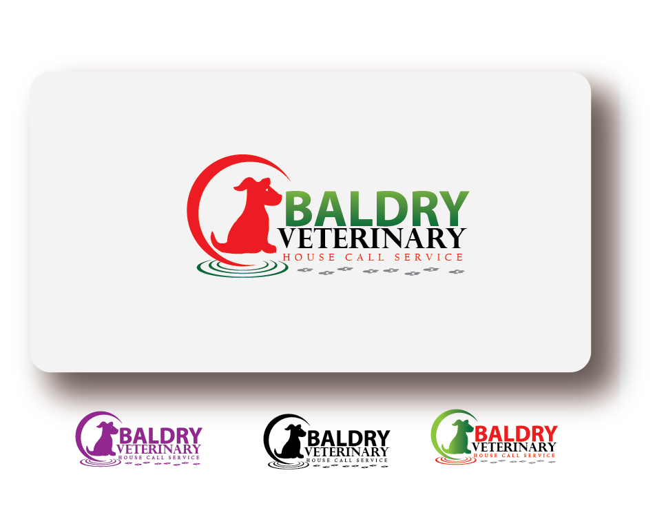 Logo Design by Jake Maco - Entry No. 182 in the Logo Design Contest Captivating Logo Design for Baldry Veterinary House Call Service.