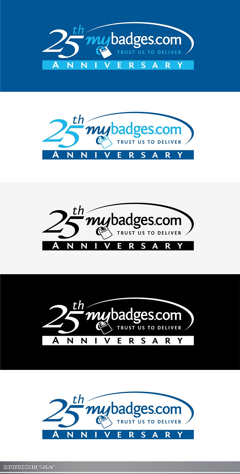 Logo Design by kowreck - Entry No. 148 in the Logo Design Contest 25th Anniversary Logo Design Wanted for MyBadges.com.