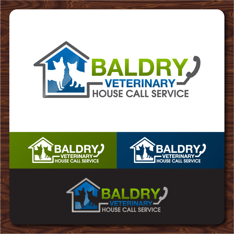 Logo Design by Rommel Delos Santos - Entry No. 189 in the Logo Design Contest Captivating Logo Design for Baldry Veterinary House Call Service.