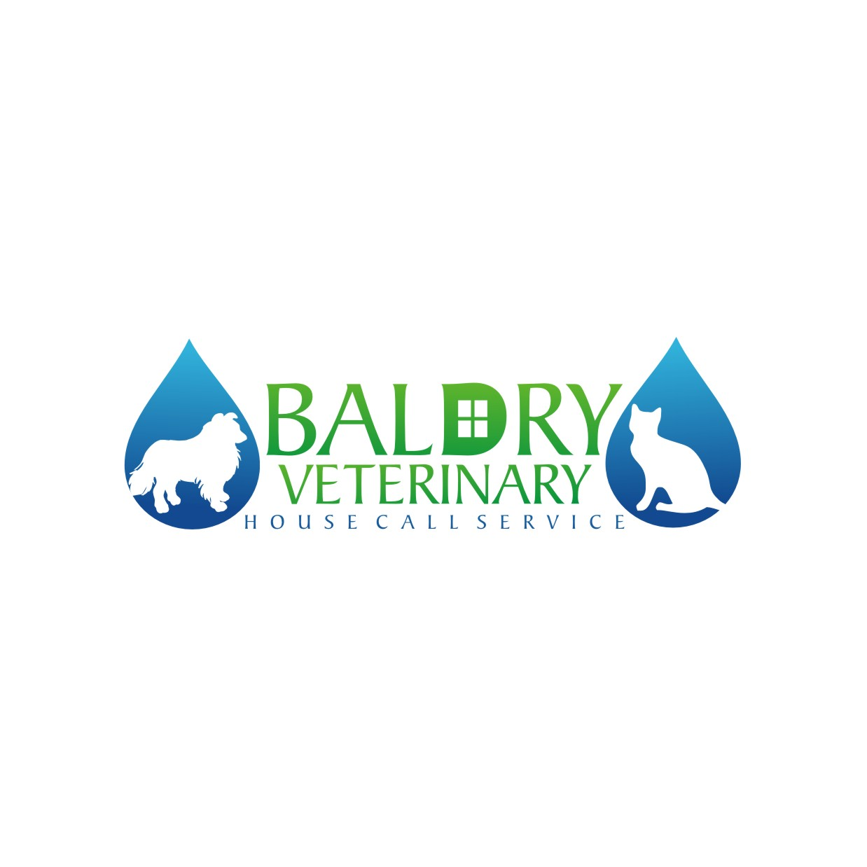 Logo Design by jalal - Entry No. 192 in the Logo Design Contest Captivating Logo Design for Baldry Veterinary House Call Service.