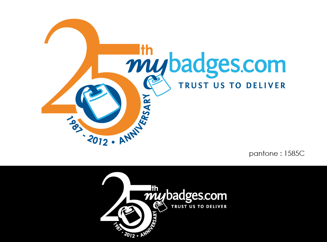Logo Design by lagalag - Entry No. 152 in the Logo Design Contest 25th Anniversary Logo Design Wanted for MyBadges.com.