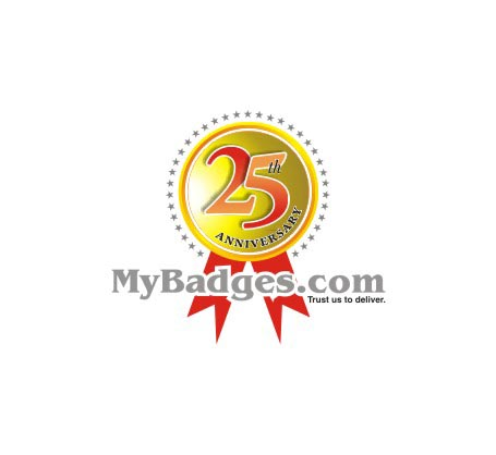 Logo Design by Private User - Entry No. 154 in the Logo Design Contest 25th Anniversary Logo Design Wanted for MyBadges.com.