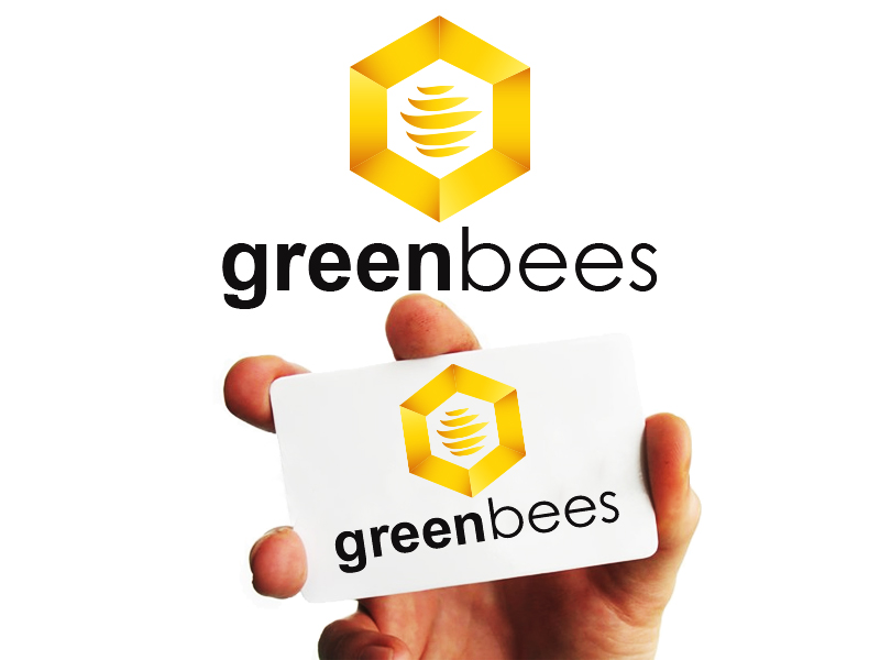 Logo Design by Mythos Designs - Entry No. 400 in the Logo Design Contest Greenbees Logo Design.