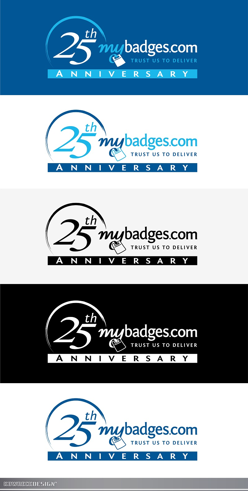 Logo Design by kowreck - Entry No. 157 in the Logo Design Contest 25th Anniversary Logo Design Wanted for MyBadges.com.