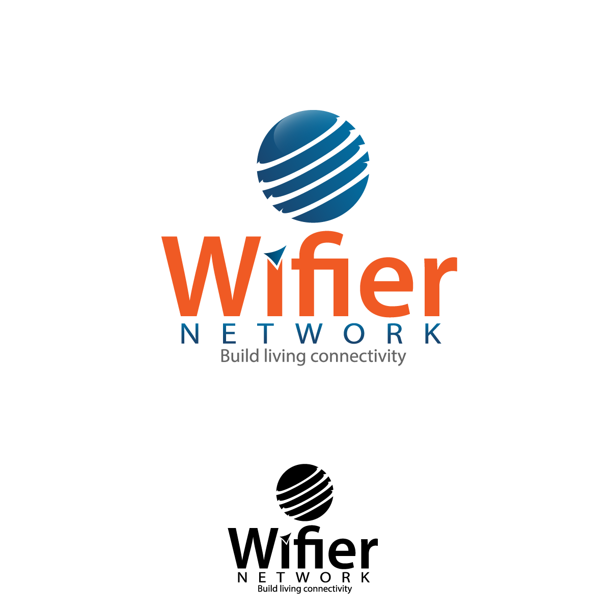 Logo Design by rockin - Entry No. 4 in the Logo Design Contest New Logo Design for Wifier Network.