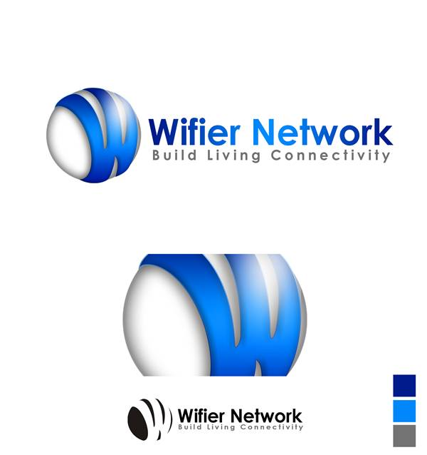 Logo Design by Respati Himawan - Entry No. 5 in the Logo Design Contest New Logo Design for Wifier Network.