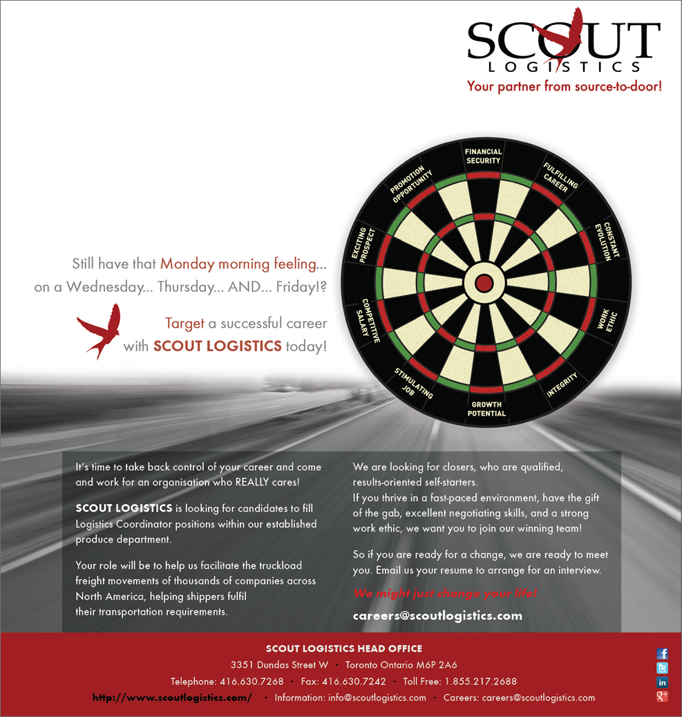 Print Design by nausigeo - Entry No. 39 in the Print Design Contest Creative Print Design for Scout Logistics Corporation.